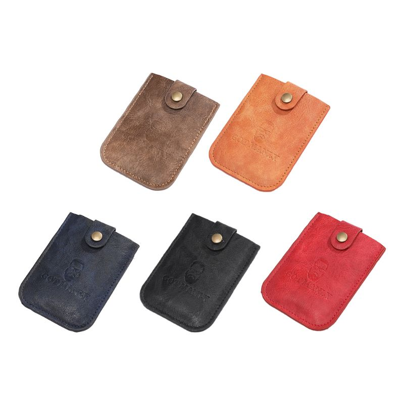 Men Pulled Design Card Holders 5 Card Slots Portable Wallet Short Slim Organizer