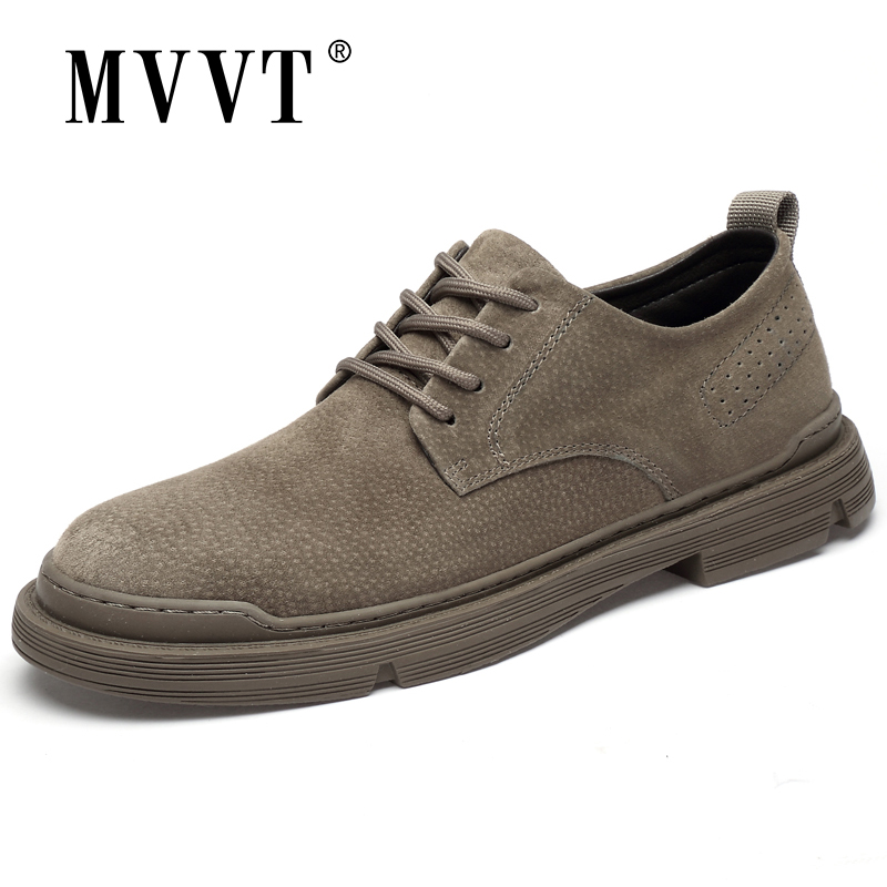 Spring New Genuine Leather Casual Shoes Men Suede Oxfords Shoes Men Breathable Flats Shoe Hot Sale Moccasins Shoes