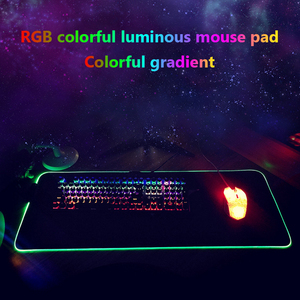Image 5 - RGB Gaming Mouse Pad Large Mouse Pad Gamer Led Computer Mousepad Big Mouse Mat with Backlight Carpet for Keyboard Desk Rubber