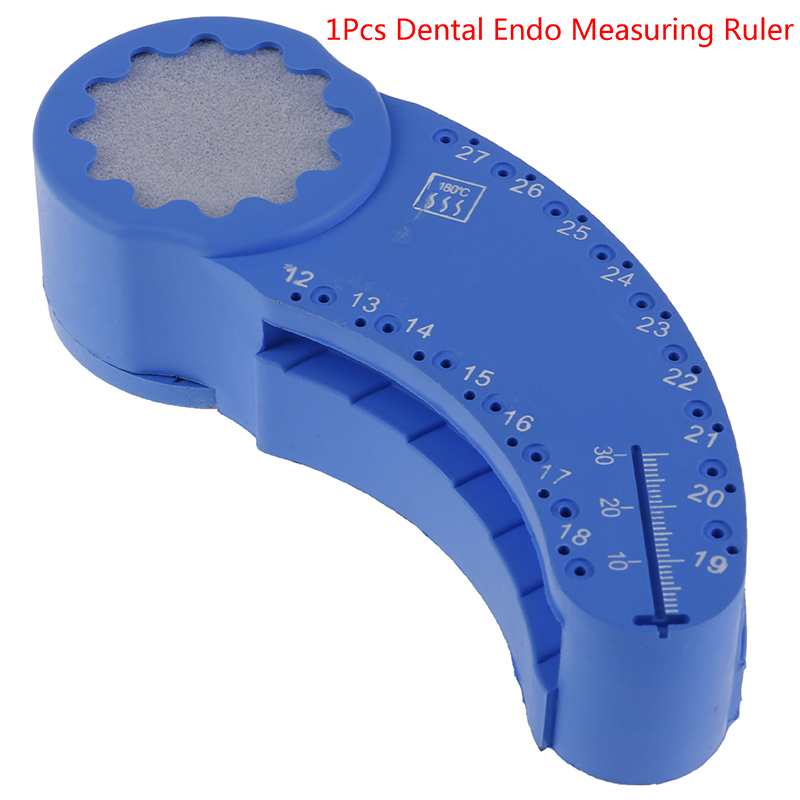 New Dental Endo Measuring Ruler Endo Files Block Files Tray With Scale Autoclavable Dentistry Instrument Ruler 1Pcs