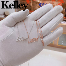Kelley high quality original Tiff 925 sterling silver necklace love letter shape brand design ladies fashion luxury jewelry