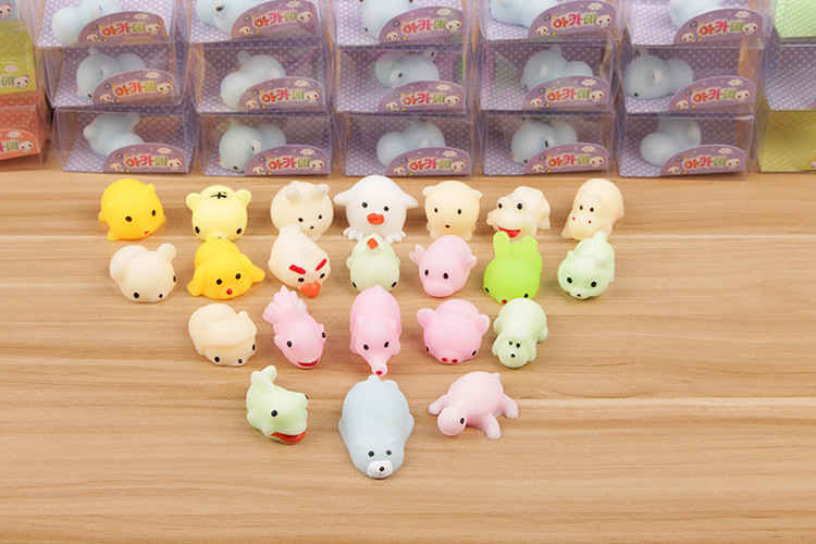 Squishy Toy Relief-Toys Ball Squeeze Mochi Gifts Sticky Cute Animal Soft for Kid HOT img3