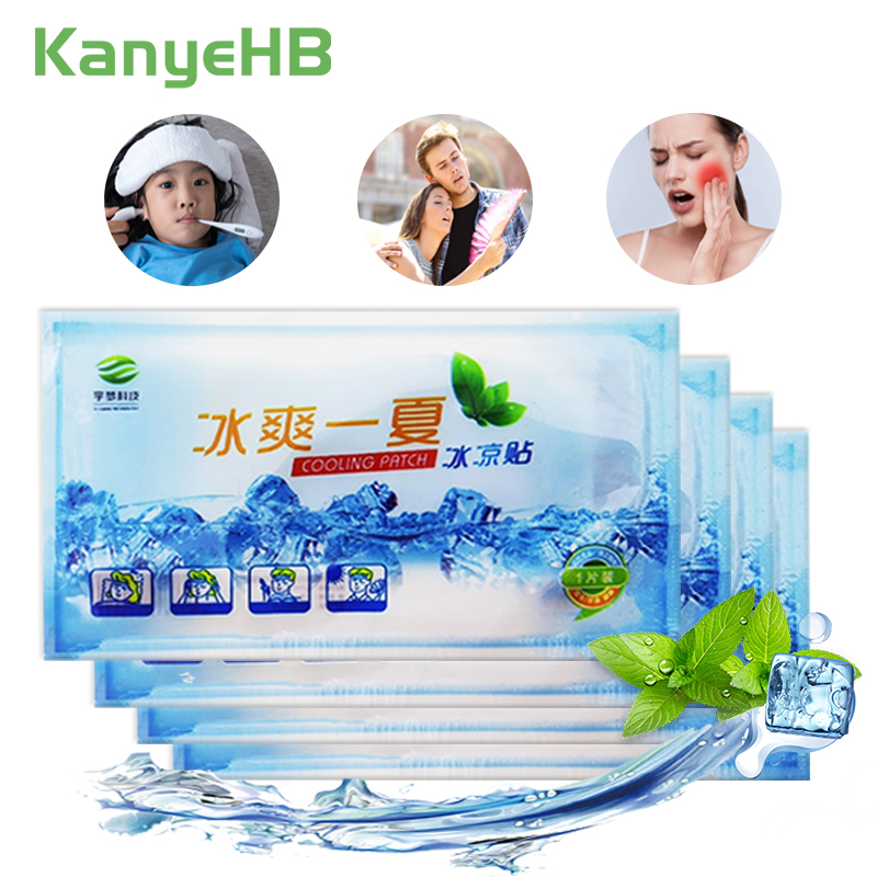 3bags Cooling Patches Fever Down Toothache Medical Plaster Migraine Headache Pad Lower Temperature Ice Gel Polymer Hydrogel A205