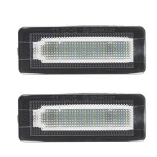 Good New 2pcs 18 SMD LED License Plate Number Light Lamp Error Free For Benz Smart Fortwo Coupe Convertible 450 451 W450 W453