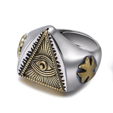 925 Sterling Silver Jewelry Men Women Skull Devil's Eye Punk Adjustable Ring couple Ring Gift new retro punk skull ring rock car crack halloween men and women personality ring jewelry gift