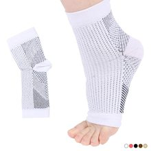 1 pièces Sport de plein air unisexe Anti Fatigue ange Circulation Anti Fatigue soulager gonflement Compression pied manches chaussettes(China)