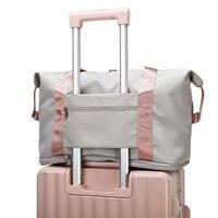 2021 Reisetaschen Falten Unisex Große Kapazität frauen Tasche Hand Gepäck Business Reise Laptop Taschen Wasserdichte Oxford Gym tasche