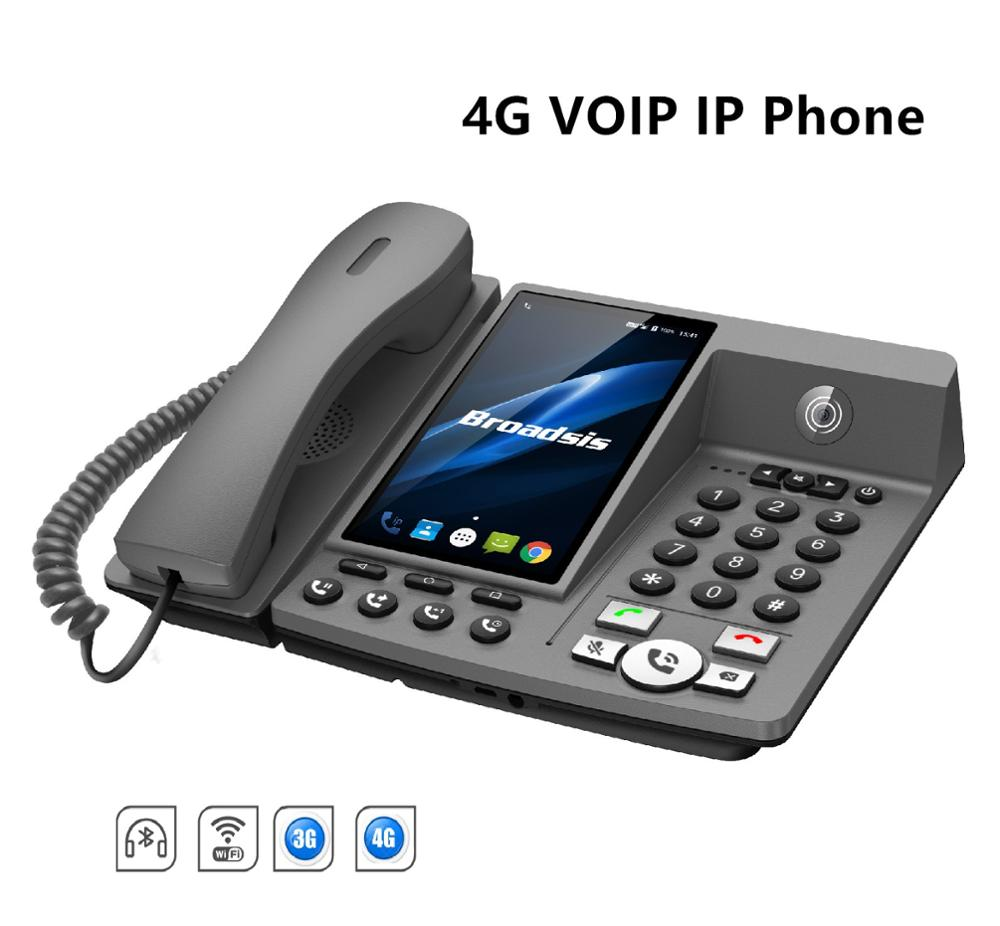 Desktop IP Phone Video VoIP service inside- Android 7.0 4G- Easy Call System support 3G WIFI SIM card for conference call