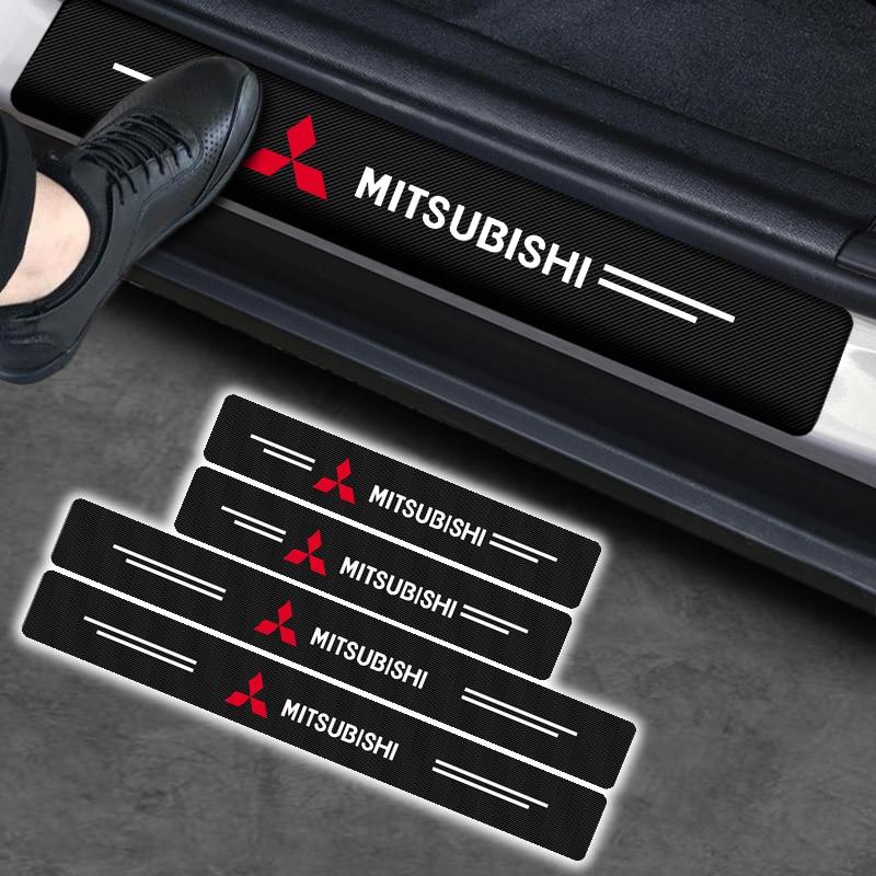 Автомобиль углеродного волокна наклейка защита порога автомобильной двери Стикеры для Мицубиси Eclipse Cross Тритон Mirage, ASX Lancer Pajero V77