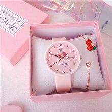 Fashion Cute Children Cherry Watch Cherry Bracelet Casual Quartz Clock