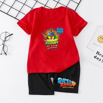 Nowe SUPER FELIPE Super Zings dziecięce chłopięce ubrania dziecięce komplety Baby Boy ubrania śliczne dziecięce zestawy T-Shirt spodnie dżinsowe tanie i dobre opinie WGTD WISH Na co dzień O-neck Brak children s suit COTTON Modalne Unisex Krótki REGULAR Pasuje prawda na wymiar weź swój normalny rozmiar