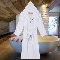 Winter Warm Robes Women Hooded 100% Cotton Bridesmaid Thick Long Absorb Water Bathrobe Elegant Letter Embroidered Hood Bathrobe