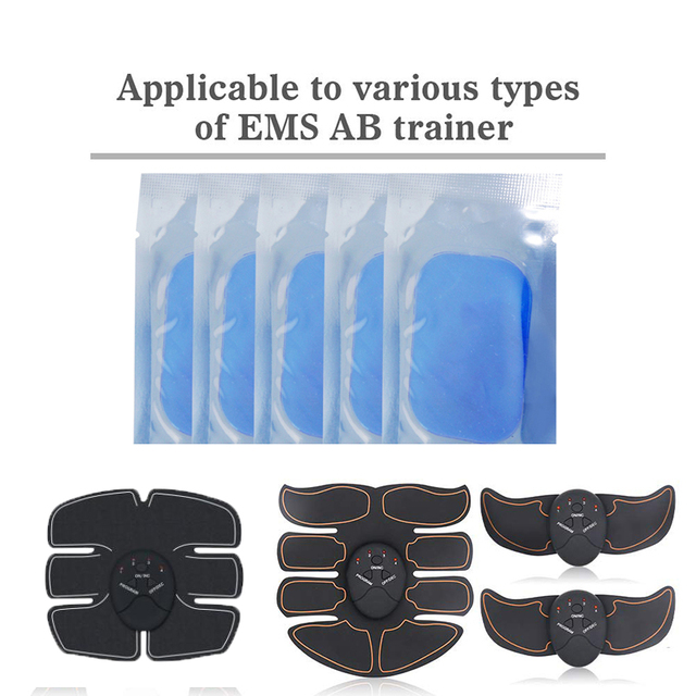 Gel Pads for EMS Abdominal ABS Trainer Weight Loss Hip Muscle Stimulator Exerciser Replacement Massager Gel Patch 1