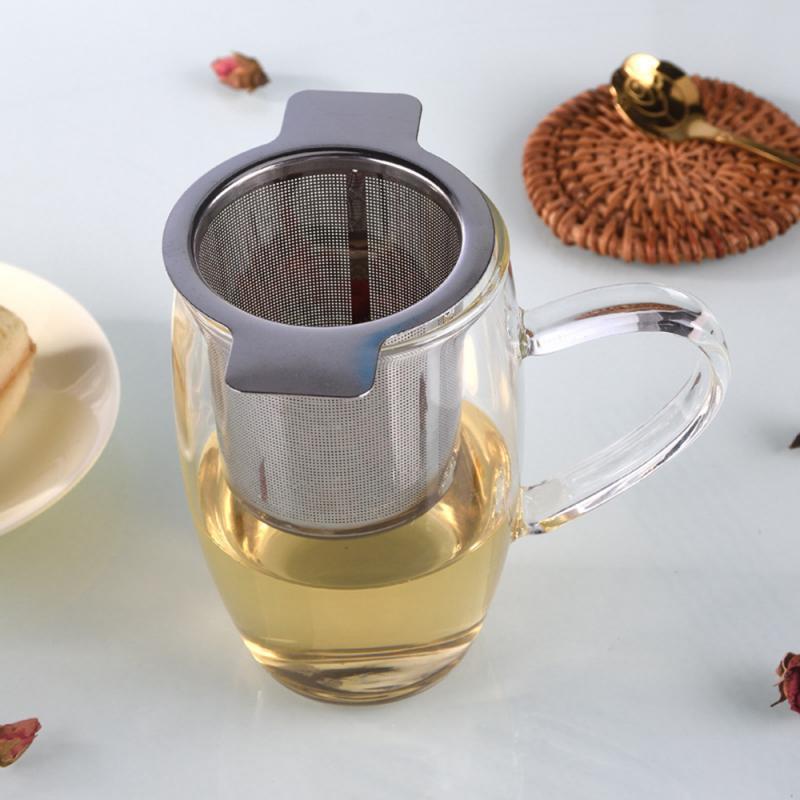 304 Stainless Steel Tea Leak Double Ear Stainless Steel Tea Leak Coffee Leak Tea Filter Kitchen Accessories For Tea, Coffee