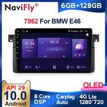 Nowy produkt, 6GB + 128GB QLED 1280*720 Android 10 radio samochodowe gps dla BMW E46 M3 318/320/325/330/335 wbudowany DSP Carplay