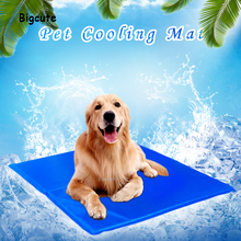 Cooling pad for pet dog, cat, bed ,  non-toxic, cooling    soft mat   house  cage    amy k585 pet heat cooling pad for dog cat blue yellow size l