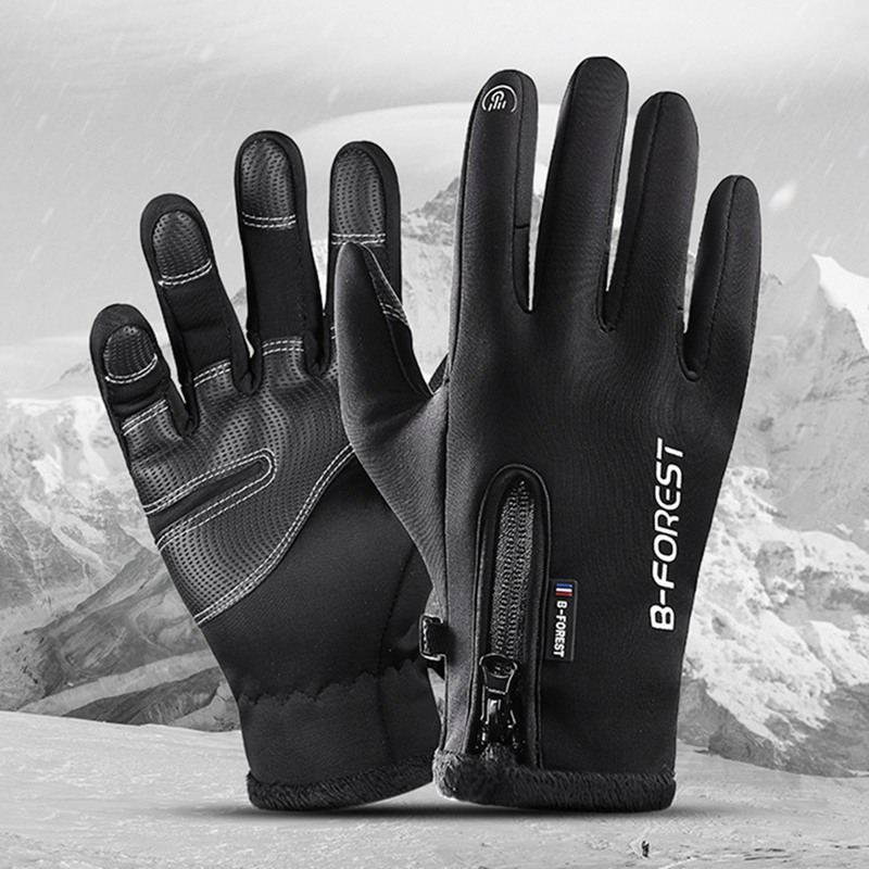 Hot Riding Gloves Touch Screen Bike Gloves Men Women Winter Thermal Windproof Full Finger Cycling Glove Anti slip Bicycle Gloves in Cycling Gloves from Sports Entertainment