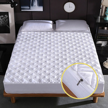 8 Colors Bed Mattress Cover With Zipper Quilted All Inclusive Soft Fiber Topper Thick Mattress Protector