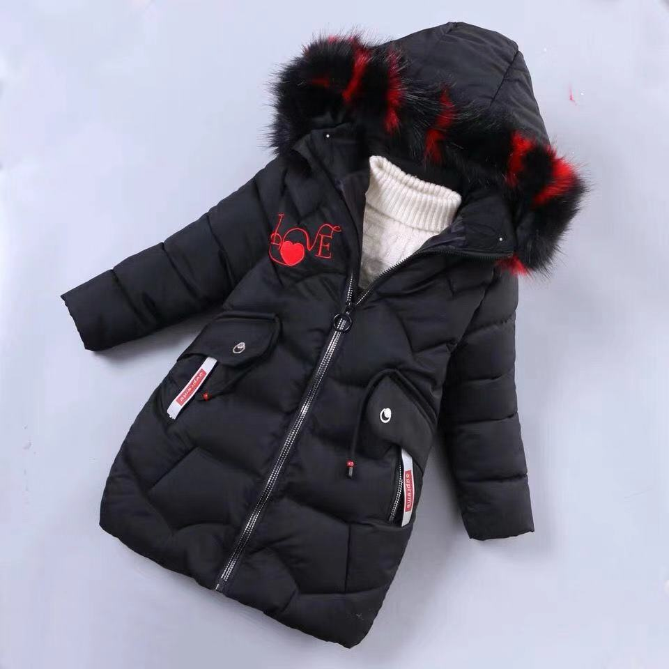 Image 5 - Girls Down Jackets Baby Outdoor Warm Clothing Thick Coats Windproof Children's Winter Jackets Kids Colourf Fur Collar Outerwear-in Down & Parkas from Mother & Kids