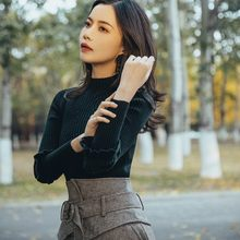 French Women Vintage Slim Fit Turtleneck Sweater High Waist Wool Blends Skirt Two Piece Set Elegant Ladies Outfits Matching Sets(China)
