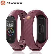 For Miband 3 4 5 Translucent Bracelet for Mi Band 5 Strap Correa Pulseira Pasek Opaska for Xiaomi Bend 4 Belt Silicone Wristband