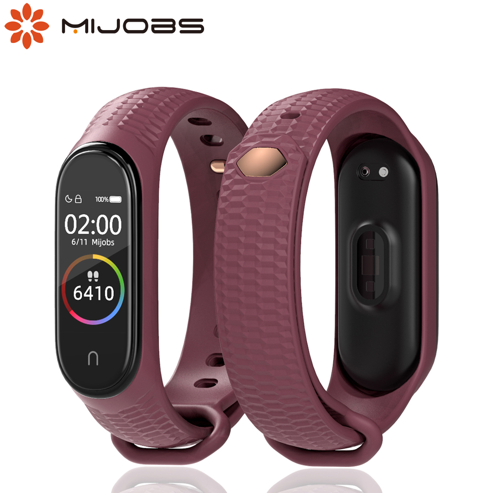 Mijobs Mi Band 4 Strap Silicone Wrist Strap For Xiaomi Mi Band 3 4 Accessories Miband 3 Smart Wristbands Bracelet Miband 4 Strap