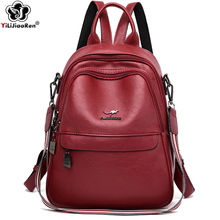 Women Leather Backpacks Designer Teenage Girls School Bag Luxury Brand Travel Backpack Sac A Dos Ladies Bagpack Mochila Mujer стоимость