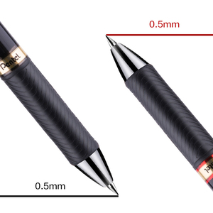 Image 2 - 3Pcs Japan Pentel waterproof quick drying gel pen 0.5mm metal pen clip water based pen BLP75 business office writing stationery