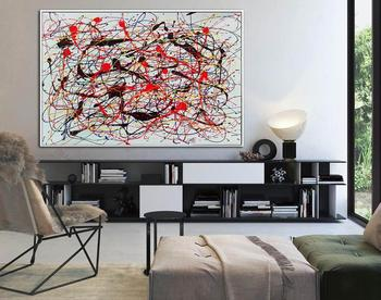 Abstract Painting Oversize Painting Colorful Painting Abstract Acrylic Paintings On Canvas Wall Painting For Living Room