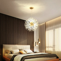Modern Dandelion Chandelier Ceiling Light LED Firework Pendant Lamp Home Decor Warm White Light