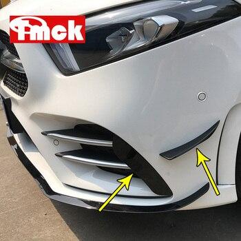 สำหรับ Mercedes Benz A Class W177 V177 A180 A200 A220 A250 2019 + รถกันชนด้านหน้ากันชนโคมไฟ Air Vent ฝาครอบสติกเกอร์อุปกรณ์เสริม