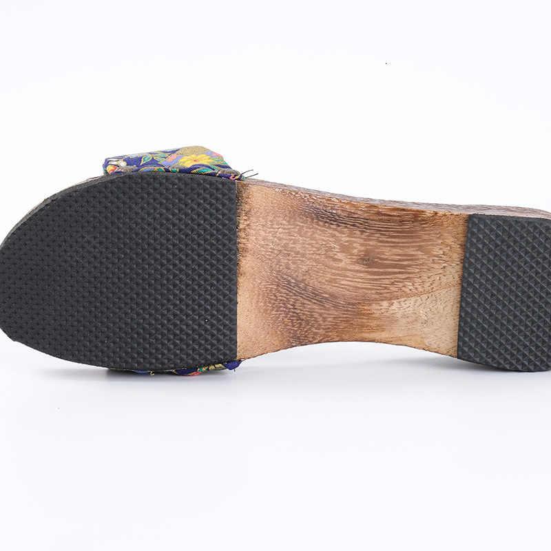 Donna di Stile Cinese Scarpe di Legno Tradizionale Giapponese Geta Zoccoli di Vibrazione di Cadute di Pantofole Da Camera Anime Cosplay Sauna Kimono Sandali