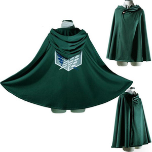 Fashion Anime no Kyojin Cloak Cape Clothes Cosplay Costume Fantasia Attack on Titan Plus Halloween Party Accessories Gift