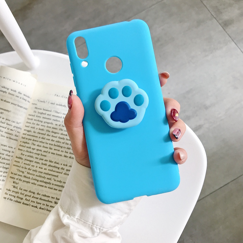 Candy Soft TPU Cat Claw Stand Case For Samsung galaxy J4 J6 Plus J2 Pro 2018 J7 5 3 <font><b>2016</b></font> J730 530 J330 J710 <font><b>510</b></font> J310 phone cover image