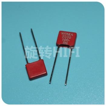 20PCS Original RED WIMA MKS2 2200PF 100V P5MM 222/100V 2.2NF NEW Audio 222 mks-2 2N2 2.2n/100V