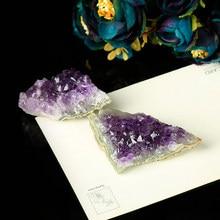 1 adet narin düzensiz doğal ametist kristal diş kristal cevheri yerli mineral şifa ev dekorasyon parti DIY hediye