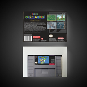 "Image 2 - סופר מארי העולם RPG משחק כרטיס סוללה לחסוך בארה""ב גרסה תיבה הקמעונאי"