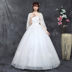 Wedding Dress Elegant Half Batwing Sleeve Sexy V-neck Lace Up Ball Gown Princess Luxury Lace Vestido De Noiva Wedding Gowns
