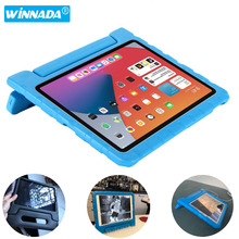 For ipad air 4 case EVA full body cover for ipad 8th generation case Handle stand case for kids for iPad 2 3 4 case cheap winnada Protective Shell Skin 9 7 CN(Origin) Solid For Apple iPad Casual Drop resistance Anti-Dust Shockproof Soft