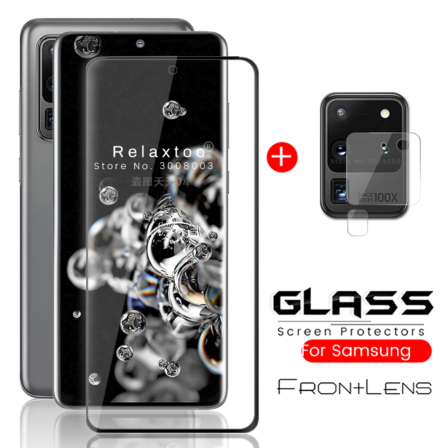 2-in-1 S 20 Ultra Glass Protective For Samsung Galaxy S20 Plus Camera Lens Film S20+ 20s S20plus S20ultra Armor Protection Glass