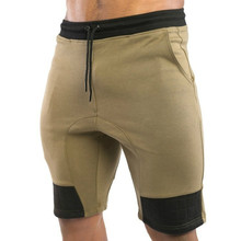 Shorts summer men's cotton sports shorts men's stitching stretch slim shorts men's casual fitness training five points shorts