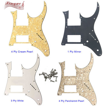 Pleroo Guitar Parts - For 10 hole screws MIJ Ibanez RG350EX Guitar Pickguard Humbucker HH Pickup Scratch Plate,many colors ootdty 4x lp guitar pickup surround screw humbucker pickup ring mounting screws suit for guitar