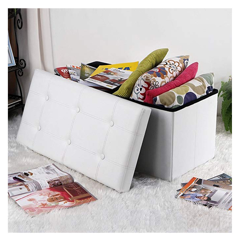 Furnishings Manufacturers Leather Long Box Adult Sofa Stool Belt Buckle Fashion Shoes Storage Stool