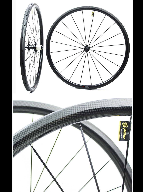 Sale 1130g Only 700C Road Bike Tubular Wheelset Carbon Fiber Bicycle Wheel Bitex Straight Pull Hub For Clmbing Clincher 1230g 7