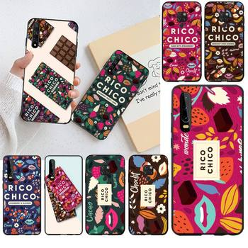 Sweet chocolate Rico Chico Black TPU Soft Rubber Phone Cover for Huawei P40 P30 P20 lite Pro Mate 20 Pro P Smart 2019 prime image