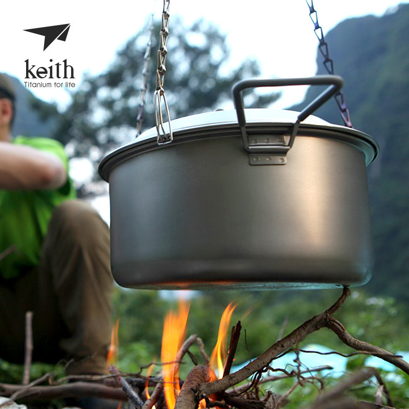 Hot Pure Titaniums Ti1600 Hanging Chain For Outdoor Camping Picnic Cookware