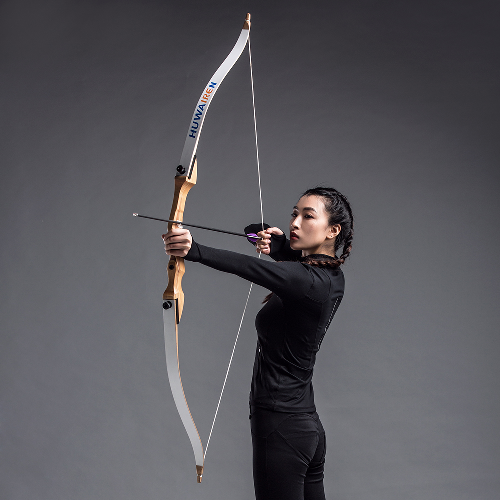 TOPARCHERY 62inch Take Down Recurve Bow Long Bow Archery Hunting  Right /left Hand Target Longbow Practice Beginner