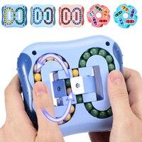 Puzle mágico giratorio Pop para niños, juguetes de inteligencia, cubo para los dedos, giroscopio, disco mágico, antiestrés