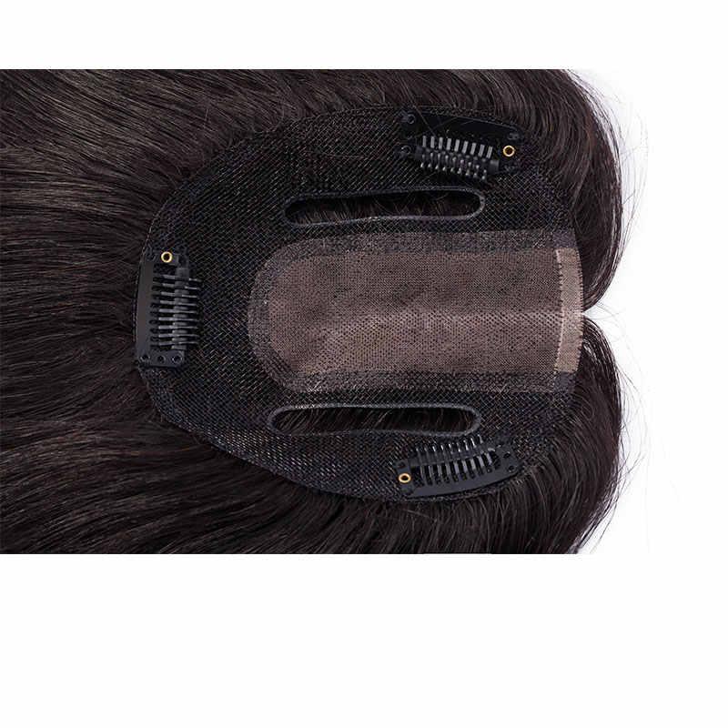 SEGO Lenght 6 ''20G Base de soldadura recta piezas de pelo Topper no Remy tupé para mujer Color Natural humano cierre de cabello de densidad 150%