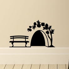 Wall-Decal Art Mural Cupboard Mouse-Hole Home-Decor-Supplies Small Mice Bedroom Living-Room